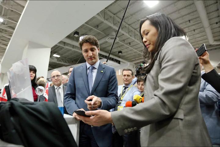 FlexSpec Backpack Demo to PM Trudeau